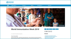 World Immunization Week 2019, 24 – 30 April 2019